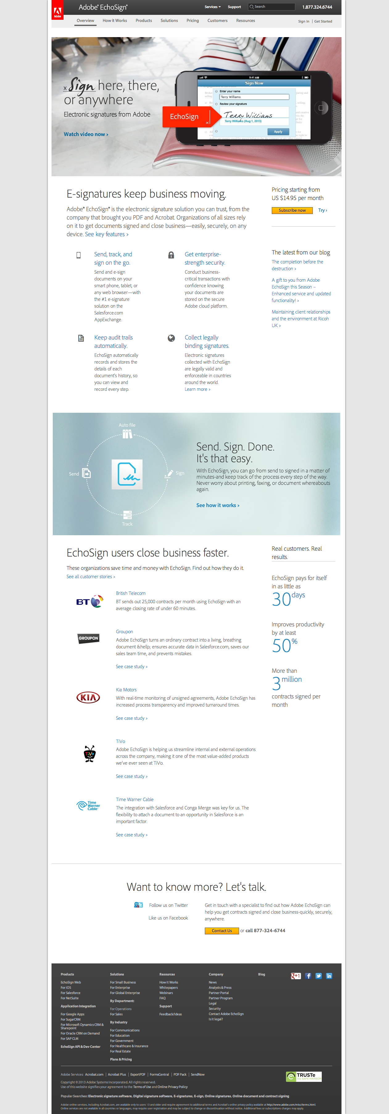 Adobe EchoSign - Homepage